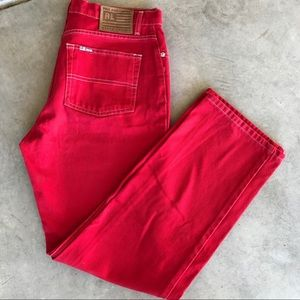 Polo Jeans Company Saturday Red Jeans 10x31